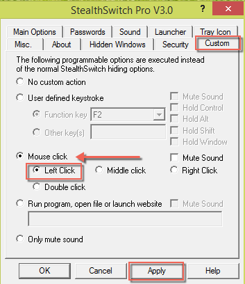 Program for Mouse Click